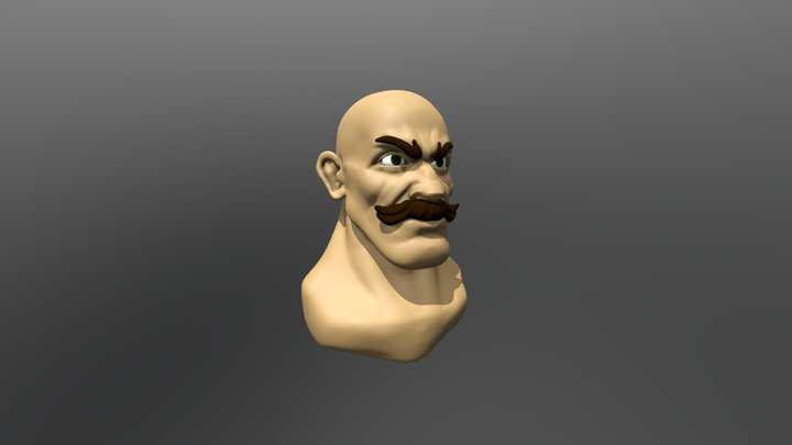 Gibraltar - Head Sculpt 3D Model