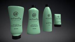Actually Shampoo Bottles (V2) 3D Model