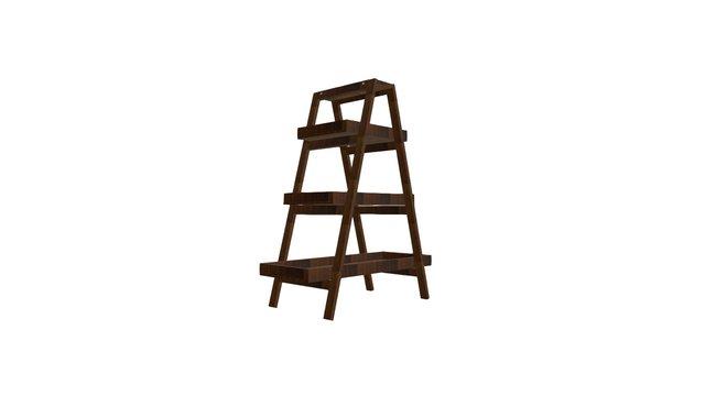 uByld Brooklyn Ladder Shelf 3D Model