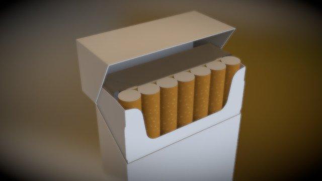 cigarette box test 3D Model