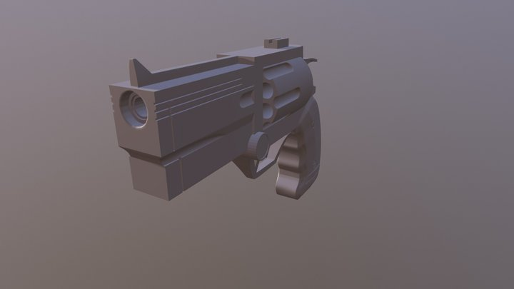 CGCookie Rugged Revolver 3D Model