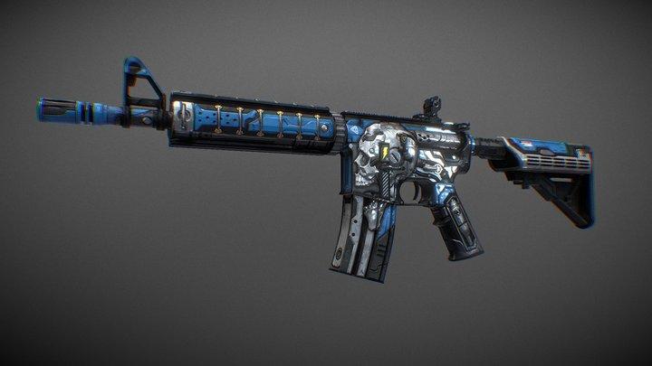 M4A4 | Wirewar 3D Model