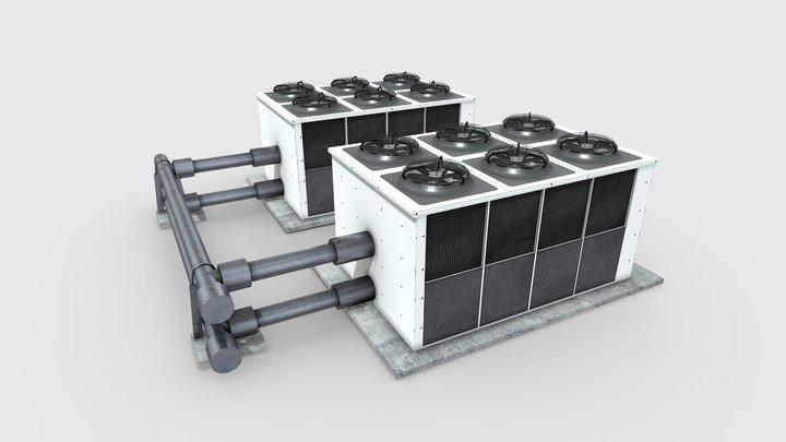air conditioner hvac 3D Model