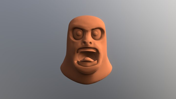 SculptJanuary day 9:Rage 3D Model