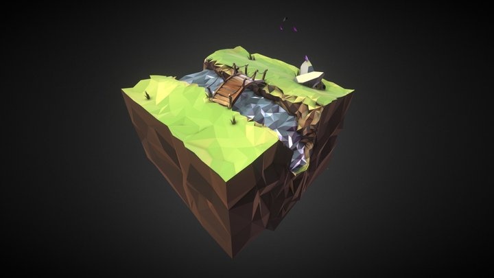 Low Poly Island 3D Model