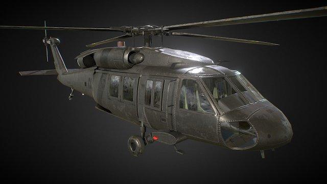 UH-60 Black Hawk 3D Model
