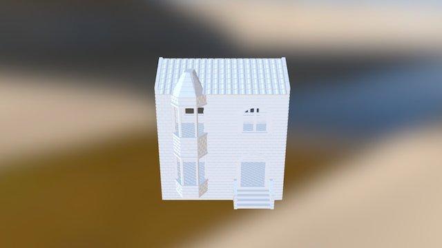 3D Printable building for wargames 3D Model