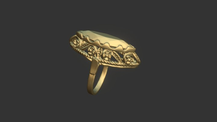 Antique ring scanned with D3D-s scanner 3D Model
