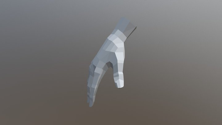 Low Poly Hand 3D Model