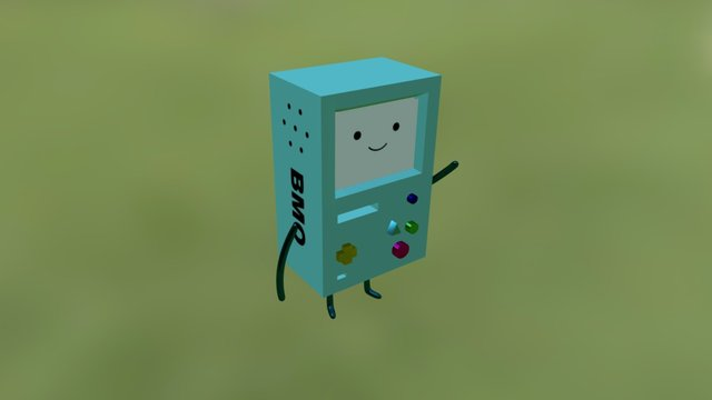 BMO - Adventure Time (Remake) 3D Model