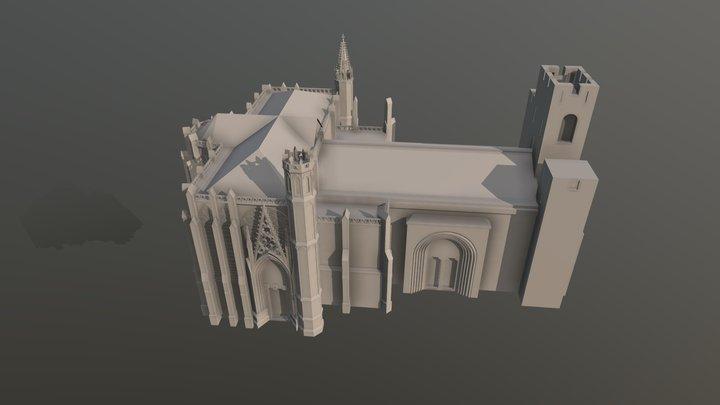 Carcassonne: Cathédrale 3D Model