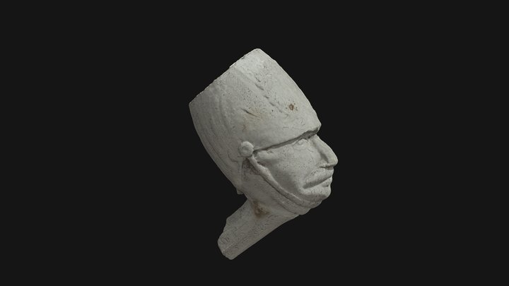 Clay tobacco pipe with military figurehead 3D Model