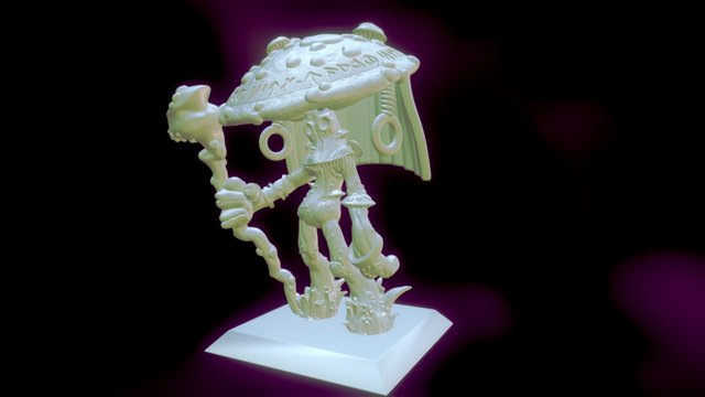 Myconid sorcerer miniature 3D Model