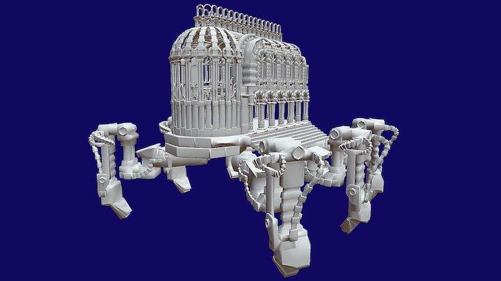 Cattedrale Con Zampe 3D Model
