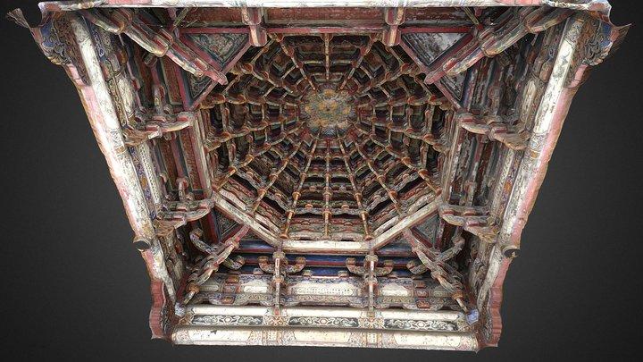 Intricate roof of Lukang Longshan Temple 3D Model