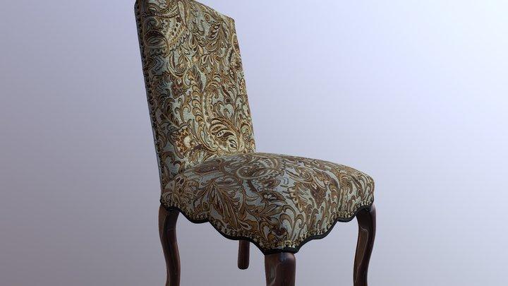 Green & Gold Chair 3D Model