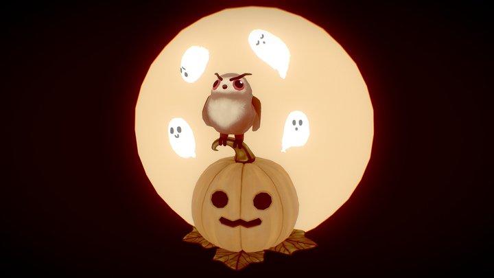 Halloween pumpkin and friends 3D Model