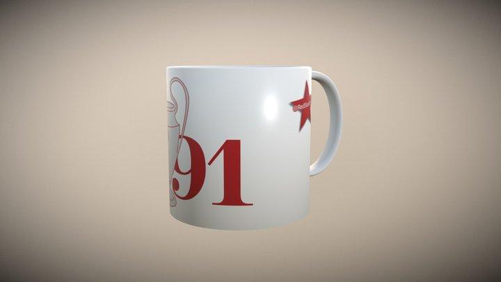 @RedStarEnglish Mug Number 1 3D Model