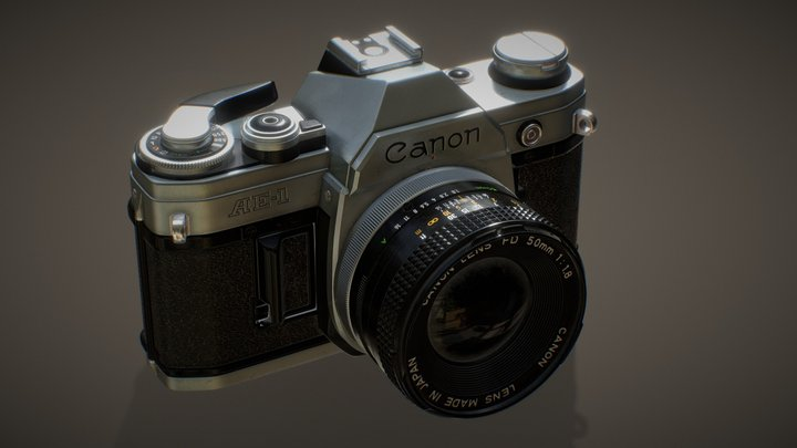 Retro Camera - Canon AE-1 (HighRes) 3D Model