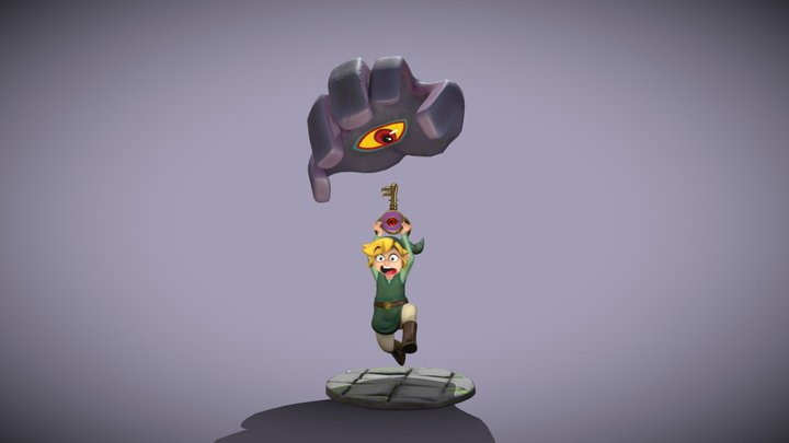 Link and the Masterkey 3D Model