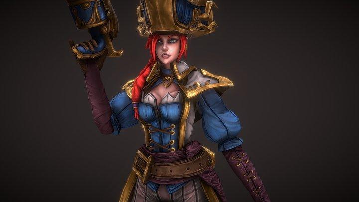 Captain Fortune 3D Model
