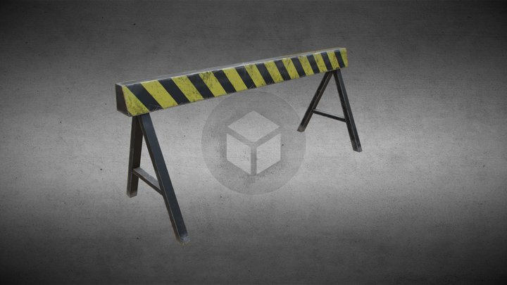 Safety temporary fence 3D Model