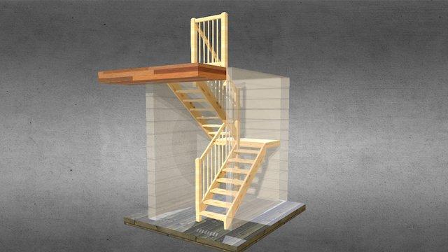 Laiptai Rokiskis 3D Model