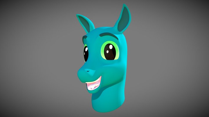 Horse Character Bust - Smile 3D Model