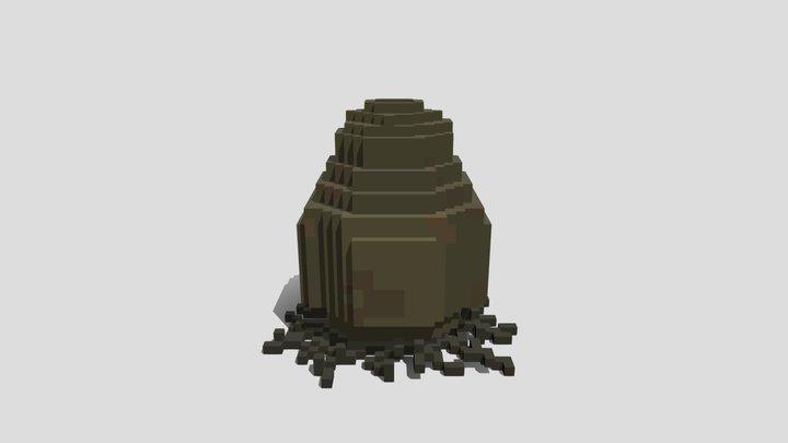 Monster Egg: Alien Voxel 3D Model