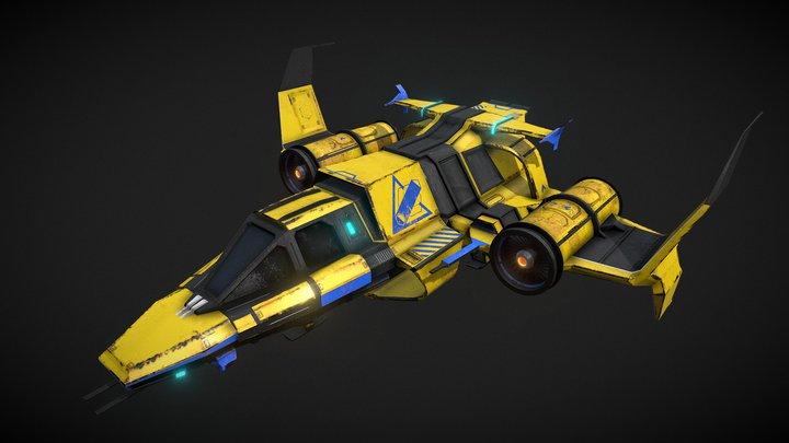 Spaceship #2 [Textured] 3D Model