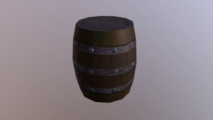 Barrel Wood   Low Poly - Game asset 3D Model