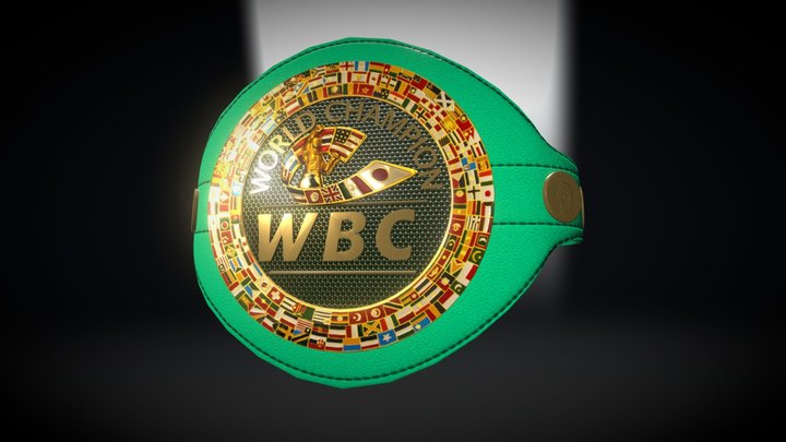 Cinturón WBC Pacquiao vs Mayweather  3D Model