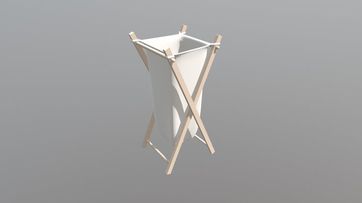 Clothes Hamper 3D Model