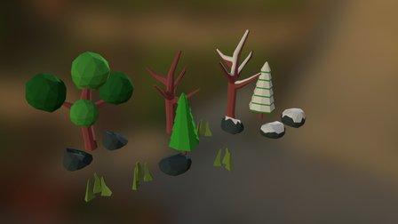 lowPollyForest1 3D Model