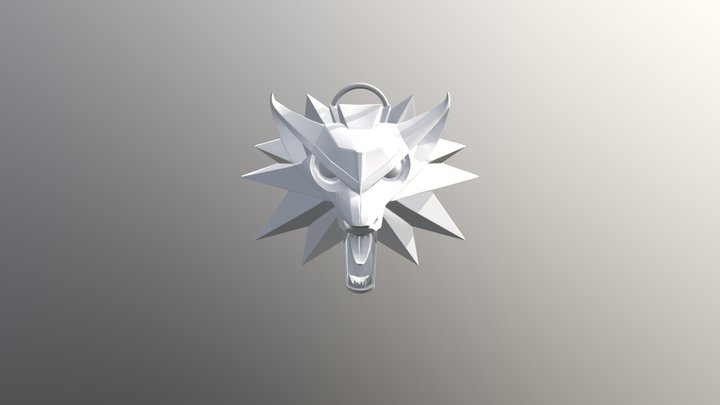Witcher Medallion Print ready 3D Model