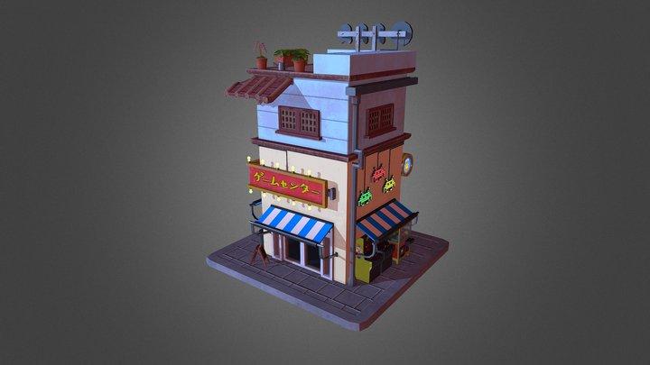 PBR Arcade Environment 3D Model