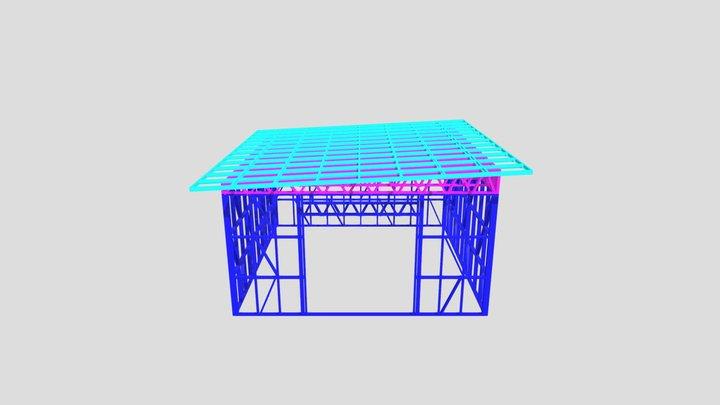 Новый объект ангар 3D Model