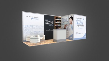 The Peace Naturals Project - Booth Design 3D Model