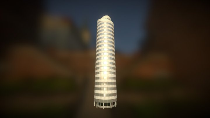 Cynth's Pearl Tower [Cities: Skylines Mod] 3D Model