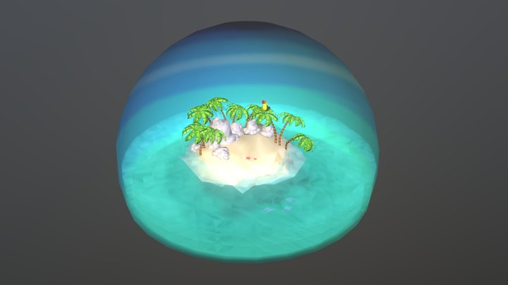 Toucan Island Diorama 3D Model