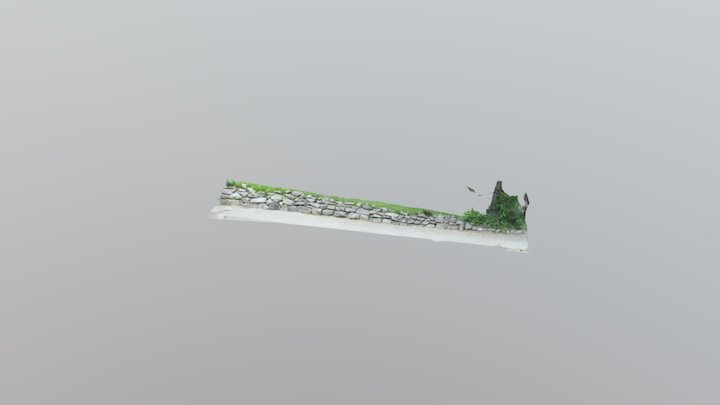 Short Stone Wall 3D Model