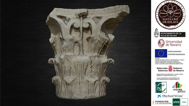 Capitel corintio clásico, siglo I d. C. 3D Model