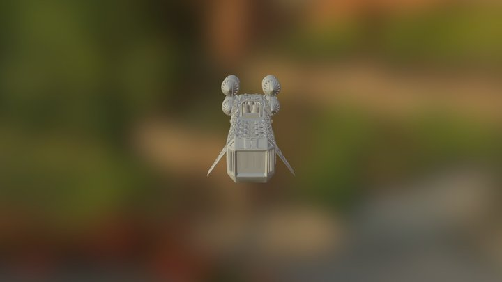 Epic Space Ship In3Dthing 3D Model