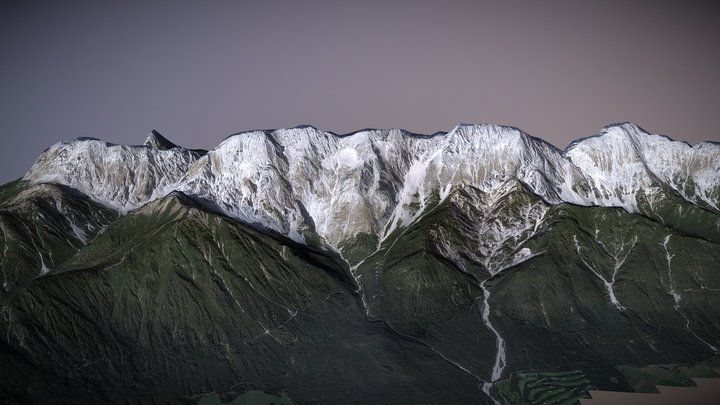 background mountain #2 3D Model