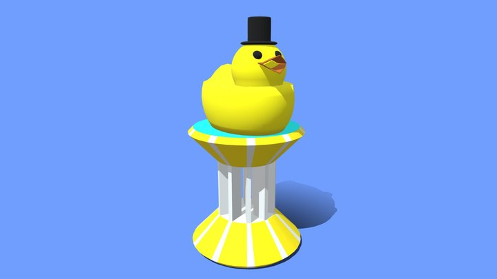 Cute Rubber Duck Trophy 3D Model