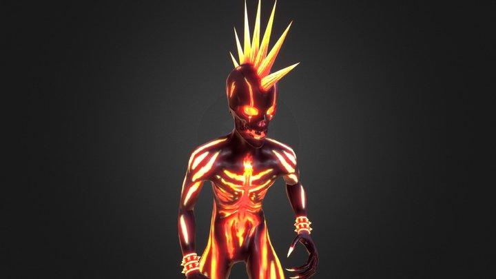 """NeverBlink""  Punk Demon 3D Model"