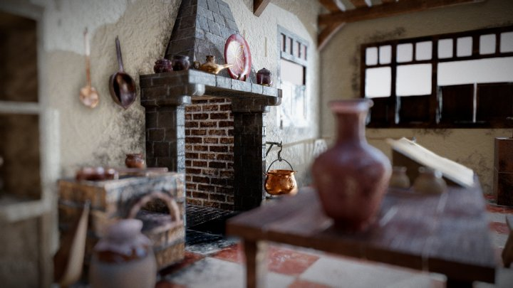 Medieval house interior 3D Model