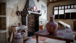 Medieval house interior 3D Model