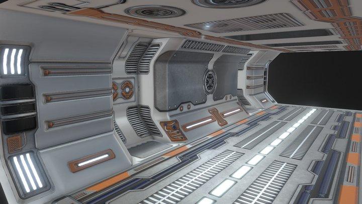 Sci-fi Toonel 3D Model