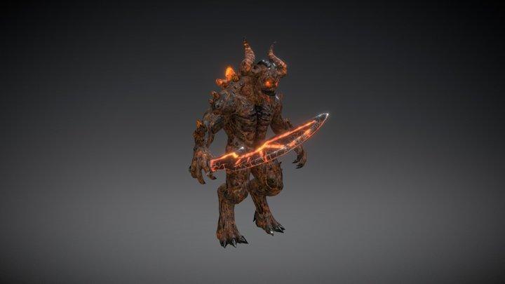 HROFT: Demon with Sword 3D Model